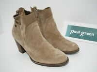 Paul Green Nora Water Resistant Bootie Ankle Boots Tan Brown Suede AT 6.5 / US 9