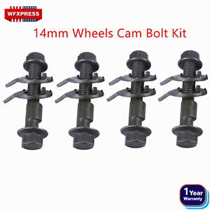 4 BOLTS 14MM FRONT LEFT & RIGHT CAMBER ALIGNMENT ADJUSTABLE CAM BOLTS KIT