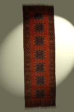 Tapis couleur naturelles 100% laine 287x86cm Marron d'Orient