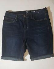 NYC Women Bermuda Mid Rise Short  Blue Jean Stretch Size 10