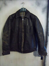 VINTAGE POST WW2 HORSEHIDE LEATHER FLYING JACKET SIZE XL