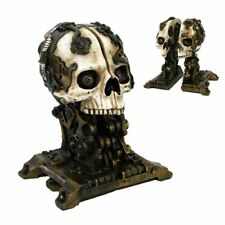 Steam Punk Gothic Skull Bookends Mythical Magic Collectible Fantasy Figurine NEW