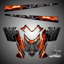 Polaris IQ RMK Shift Dragon Graphics Decal Wrap 05-12 w/ Tunnel Guardian Orange