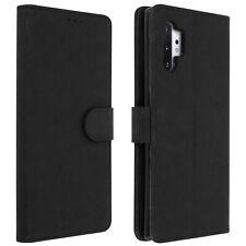 Funda Samsung Galaxy Note 10 Plus Libro Billetera F. Soporte - Negro