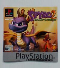 Incrustación de frontal * SOLAMENTE * Spyro 2 Gateway a reflejarse frontal embutido PS1 Psone Playstation