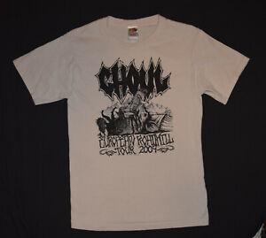 GHOUL Band Small T-Shirt European Tour 2009 2-Sided Punk Thrash Metal