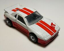 Vintage MATCHBOX WHITE/RED/ORANGE PONTIAC FIERO 1985