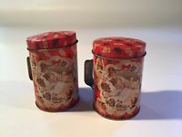 Vintage Tin Christmas Salt & Pepper Shakers