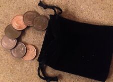 7 Irish Decimal One Penny Coins - Stylized Bird And Harp