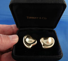 Tiffany Peretti Full Heart Earrings, Large 18K gold, original owner, A+ cond