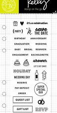 HERO ARTS CLEARLY KELLY clear cling stamps PARTY, WEDDING PLANNER or INVITATIONS