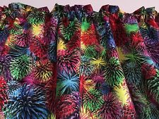 "43""W 15""L Celebrate Fireworks Window Curtain Valance Cotton fabric"