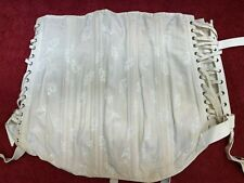 Vintage Wht 1930's Camp Fan Lacing Corset Bustier Stocking Girdle