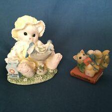 "Two Enesco ""Calico Kittens� Figurines"