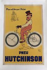 Original Vintage Poster pneu HUTCHINSON environ 1939 by me