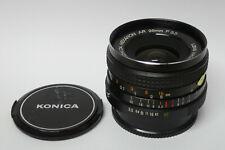 Konica Hexanon AR 3,5 / 28  mm Objektiv Konica Bajonett guter Zustand