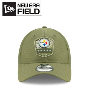 New Era 39Thirty Pittsburgh Steelers Salute to Service Flex Hat Green Size Med/L