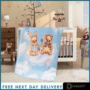 Soft Fleece Baby Blankets | Newborn Blanket | Pram Crib Moses Basket Unisex 0+