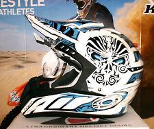 AIROH CR901 FACE Cross Helm Yamaha YZ-F NEU Enduro Quad XL Blau Weiß Thor Suomy