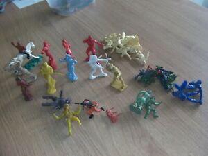 vintage toy soldiers, cowboys, indians, footballers,joblot,unbranded,transogram