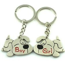 FD1081 Sweet Puppy Dog Lover Keychain Keyring Keyfob Key Ring  ~1 Pair 2pcs~ :)