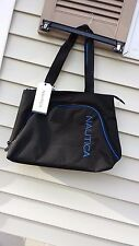 Nautica Catamaran 2 18 Unisex Tote Bag black W/ blue (2679C13)