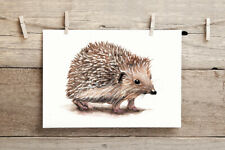 HEDGEHOG A5 PRINT By Sarah Featherstone Watercolour Painting, Wildlife ART Cute