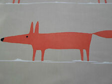 "Harlequin Scion Curtain Fabric Design ""mr Fox"" 3 Metres Natural & Paprika"