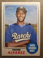 Yadier Alvarez Gray Parallel 14/25 2017 Topps Heritage Minor Leagues #163