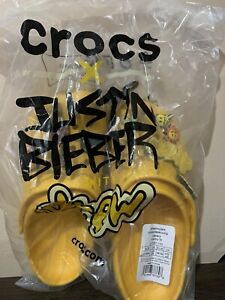 Justin Bieber Drew House x Crocs Size Men's 6/Women's 8 New Dead Stock Fast Ship