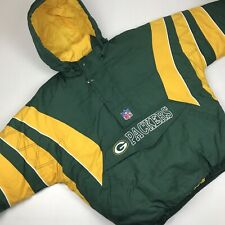 Vintage Starter NFL Green Bay Packers Hooded Pullover Winter Coat Mens XL