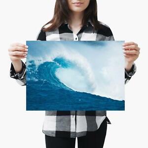 A3| Ocean Big Wave Sea Storm Nature - Size A3 Poster Print Photo Art Gift #2463
