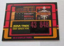 Star Trek Deep Space Nine Heroes & Villains RC1 Display Panel Relic Prop DS9
