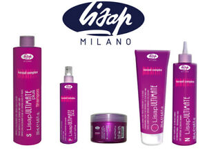 LISAP PLUS ULTIMATE Shampoo Mask Oil Straight Fluid 125ml , 250ml ARGAN KERATIN