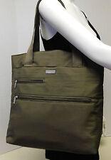 Baggallini Beige Khaki Travel Messenger Shopper Bag Shoulder Bag Handbag Tote