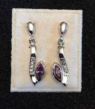 Silver Amethyst Fine Earrings