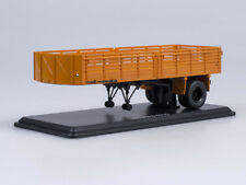 Scale model truck 1/43 Semi-trailer Maz-5215 orange