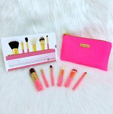 Bh Cosmetics Neon Pink 6 Piece Travel Brush Set & Bag BNIB 100% Authentic
