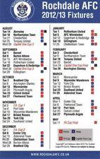 Fixture List - Rochdale 2012/13