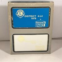 Double Deck of LIONS CLUB INTERNATIONAL Playing Cards District 4-L4 1978