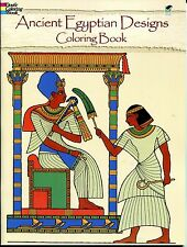 Ancient Egyptian Designs Coloring Book (Paperback, New) Dover Adult