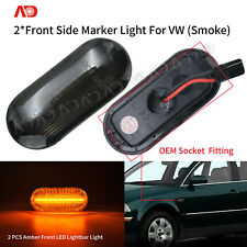 LED Side Marker Light Smoked For VW Golf MK4 MK5 Passat B5 Polo Jetta Seat 2PCS