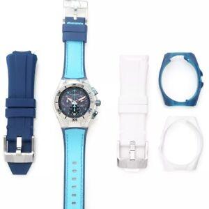 TechnoMarine 115024 45mm Cruise California Swiss Quartz Watch 3-Piece Strap Set