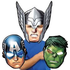 8x Vengadores Thor Hulk Capitan America Tarjeta Máscara Fiesta De Cumpleaños favor Chicas Chicos