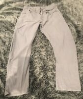 Mens Grey Tapered Gstar Jeans Size 32 Waist 32 Leg Button Up Slim Fit