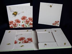 """WRENDALE """"Flight of the Bumblebee"""" Notecard and envelope pack"""