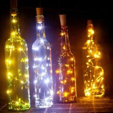 Set of 3 - 6.5ft 20 White LED Wine Bottle Light String Cork Battery Powered
