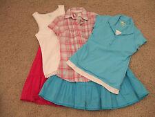 Girls 5 pc Fall School Clothes Mixed Lot Skirts Shirts Size Large 12 Size 14 EUC