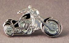 Black Chopper Motorcycle Enamel Pin Badge