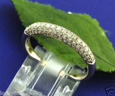 14k Solid Rose Gold Natural Diamond Band Ring 0.90 ct micro pave pink golds